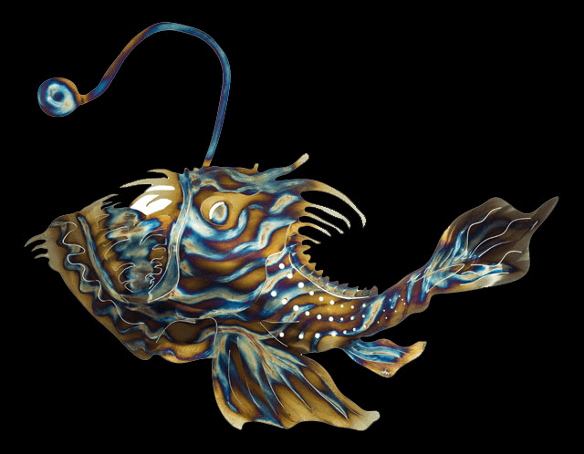 Angler fish metal fish 66 for What is an angler fish