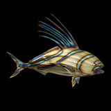 low priced 62327 7676b rooster-fish - Metal Fish 66