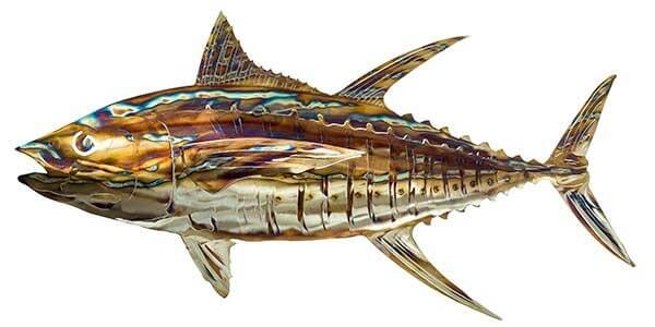 Fish tales metal fish 66 for Metal fish art