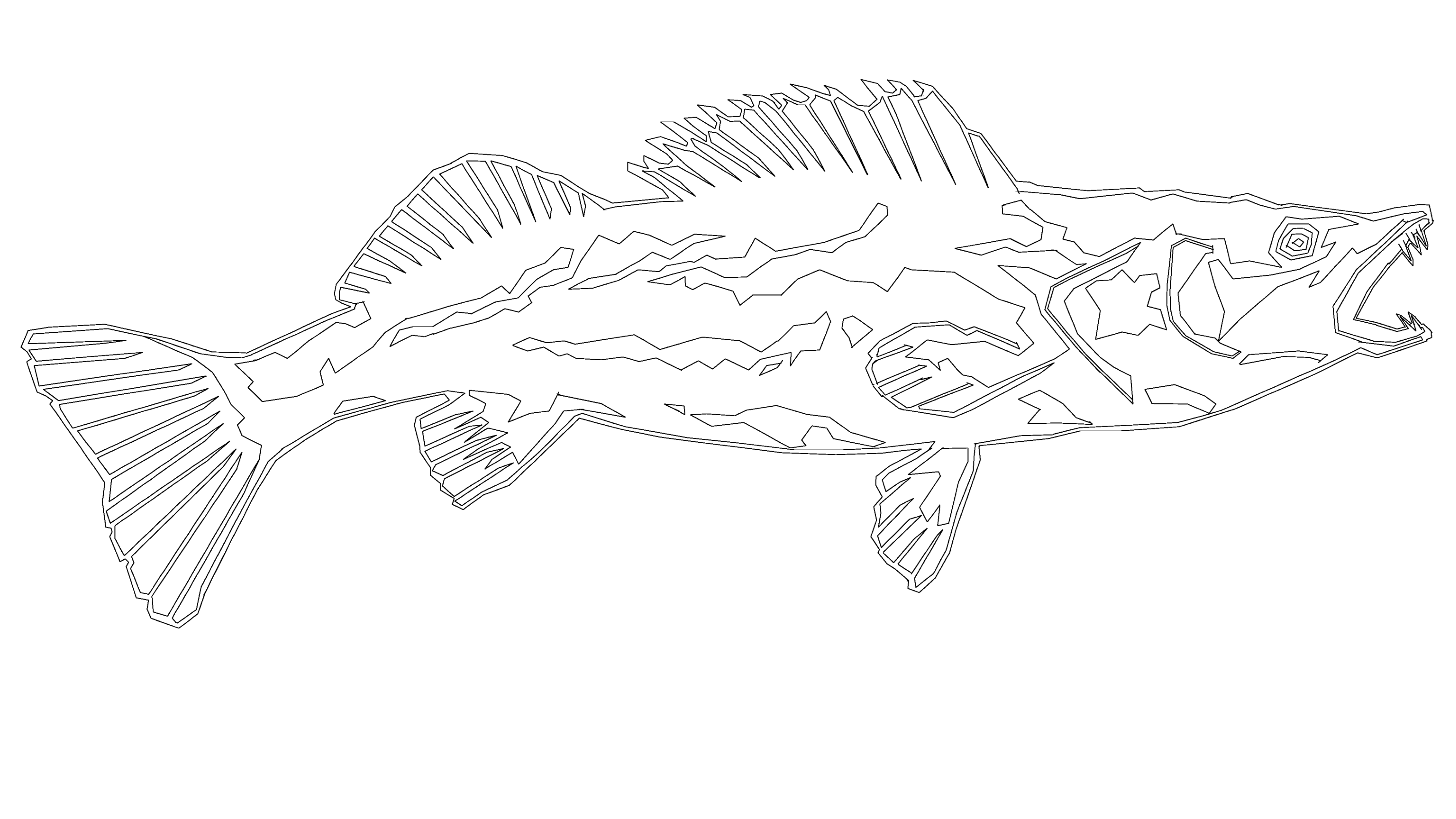 Snook Outline Print