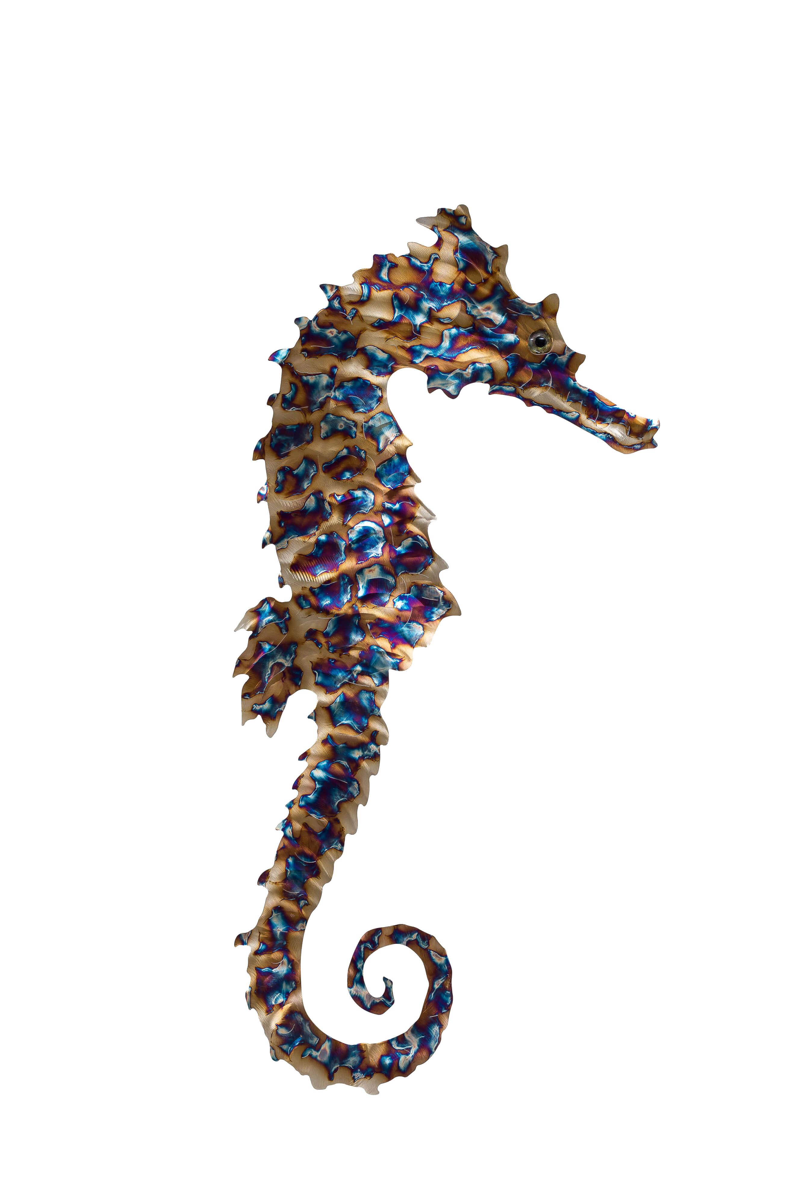 seahorse metal fish 66